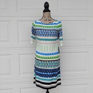 Eliza J Dress Size 6 Geometric Print Above Knee